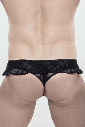 Oliver-Crossdressing, Kinky, Schwarz, Thong