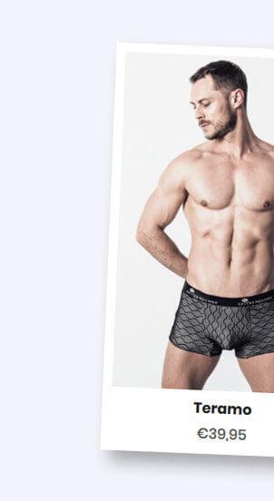 kartenbild von Teramo, spitzenüberzogene Unterwäsche von Spitzenjunge