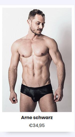 modische schwarze Unterwäsche Arne in schwarz